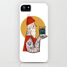 Hipster Santa iPhone Case