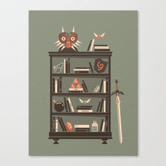 Zelda Shelf // Miyamoto Canvas Print
