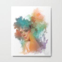 Colorful digtal Artwork, modern Art Metal Print