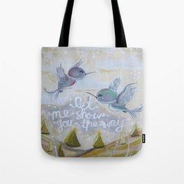 heavenly hummingbirds Tote Bag