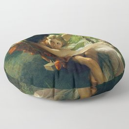 """Pierre Auguste Cot """"Springtime"""" Floor Pillow"""