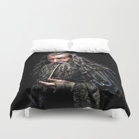 gondor Duvet Covers featuring Gandalf  by DavinciArt