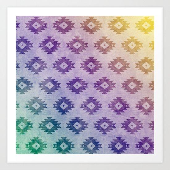 Aztec Pattern 06 Art Print