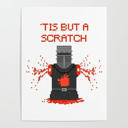 Monty Phyton black knight Poster
