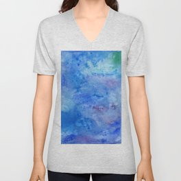 Mariana Trench Watercolor Texture Unisex V-Neck