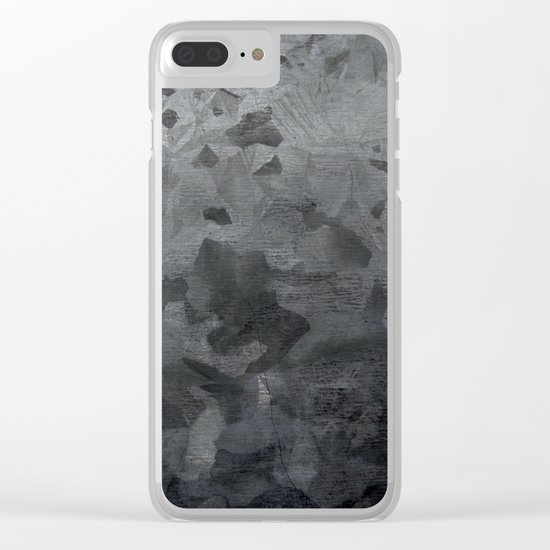 Grey texture Clear iPhone Case