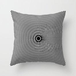 Moiré Circle Three Throw Pillow