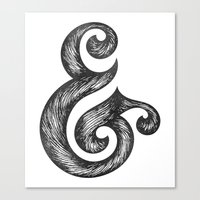 ampersand Canvas Prints featuring Ampersand by Norman Duenas