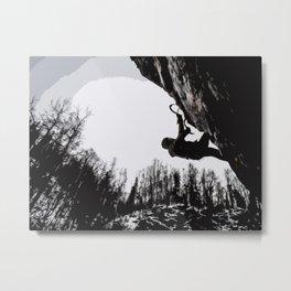 Climbers Silhouette #2 Metal Print