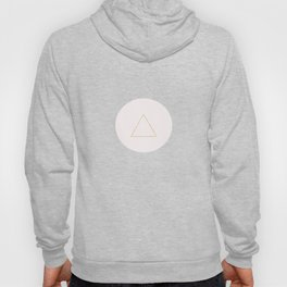 Soft Pink And Rustic Gold Triangles Hoody