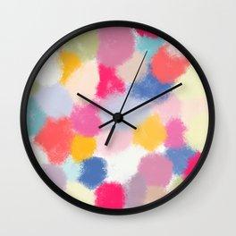 Splotches - by Kara Peters Wall Clock