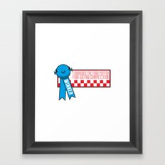 Fugu Puffer Fish (Extravagant Eating Competitions) Framed Art Print