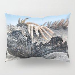 Funny rasta hair marine iguana Pillow Sham