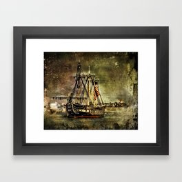 Tall ship USS Constitution Framed Art Print
