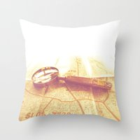 explore Throw Pillows featuring EXPLORE by Mankind Design