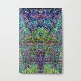 Con-Tici Cosmogenesis (abstract, psychedelic, visionary) Metal Print