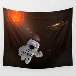 Astronaut And Sun Wall Tapestry