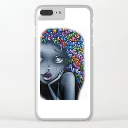 girl letters grafitti Clear iPhone Case
