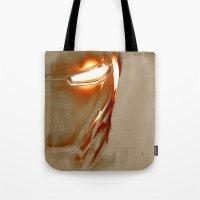 iron man Tote Bags featuring Iron Man by Fernando Vieira