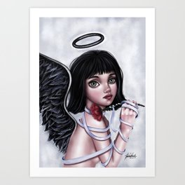 Her dark,lovely soul Art Print