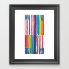 Flags for The Future 38 Framed Art Print