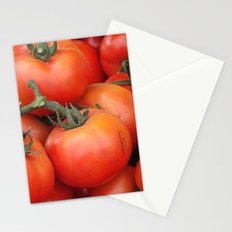 Bright Red Garden Tomatoes Stationery Cards