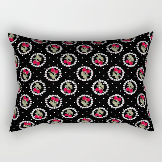 Floral pattern retro . Strawberry. Rectangular Pillow
