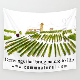 Early morning in the vineyard: a watercolor from the Hâut-Médoc Wall Tapestry