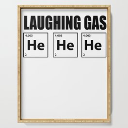 Haha element periodic table humor funny gift Serving Tray