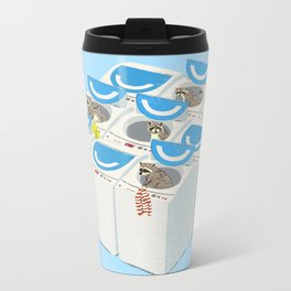 Racoons Metal Travel Mug
