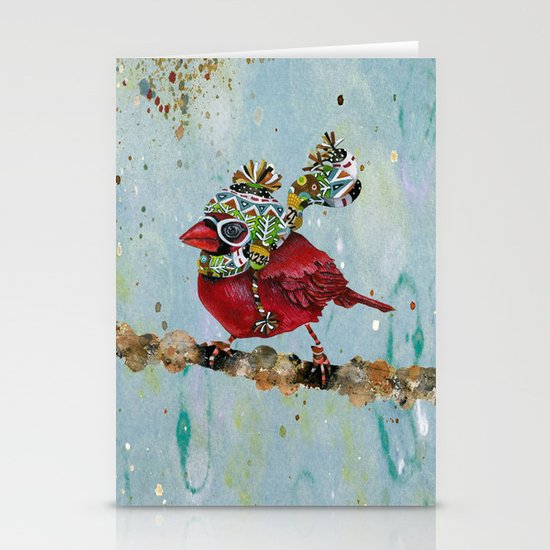 Cardinal Blaze Stationery Cards