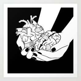 People leave me when I show them my wound Art Print