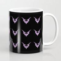 bats Mugs featuring Bats Bats Bats by Brit Austin Illustration