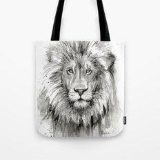 Lion Watercolor Animal Tote Bag
