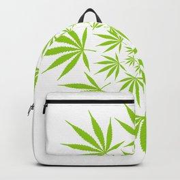 Cannabis Leaf Circle (White) Backpack