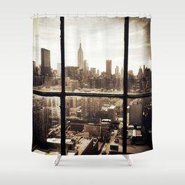 i love NY vintage Shower Curtain