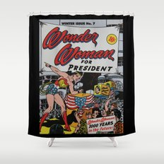 Comic Number 7 Shower Curtain
