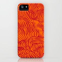 orange red flow iPhone Case