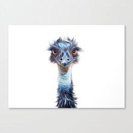 Luminous Emu Art Canvas Print
