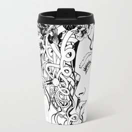 With Flowers in Her Hair No. 5 Travel Mug