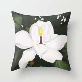 Magnolia I Throw Pillow