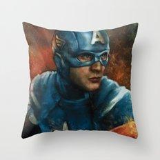The First Avenger Throw Pillow