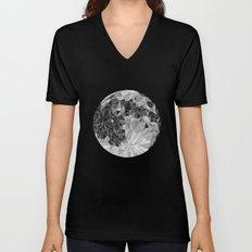 Abstract Full Moon Unisex V-Neck
