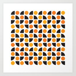 Geometric Pattern 175 (orange spots) Art Print