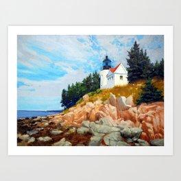 Bass Harbor Light Art Print