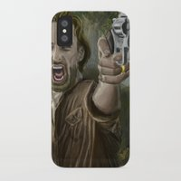 rick grimes iPhone & iPod Cases featuring Rick Grimes by Paulo Fodra