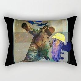 Aquatic Trance Rectangular Pillow