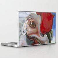 chicken Laptop & iPad Skins featuring Chicken by Jeanne Hollington
