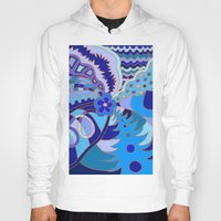 30 rock Hoodies featuring Abstract 30 by Linda Tomei