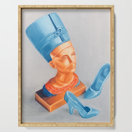 Queen Nefertiti with Barbie shoes Serving Tray